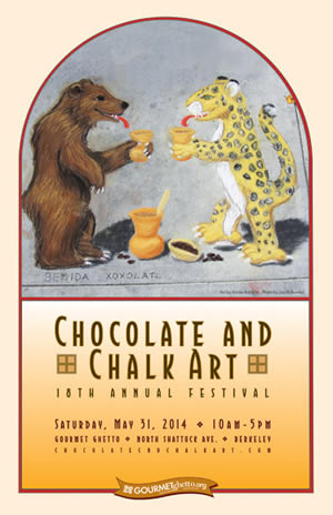 Chocolate & Chalk Art Festival poster